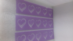 3 x heart stencil strips for wall decoration   pub restaurant living room  love  Valentines